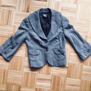 Ann Taylor cropped blazer with bell sleeves